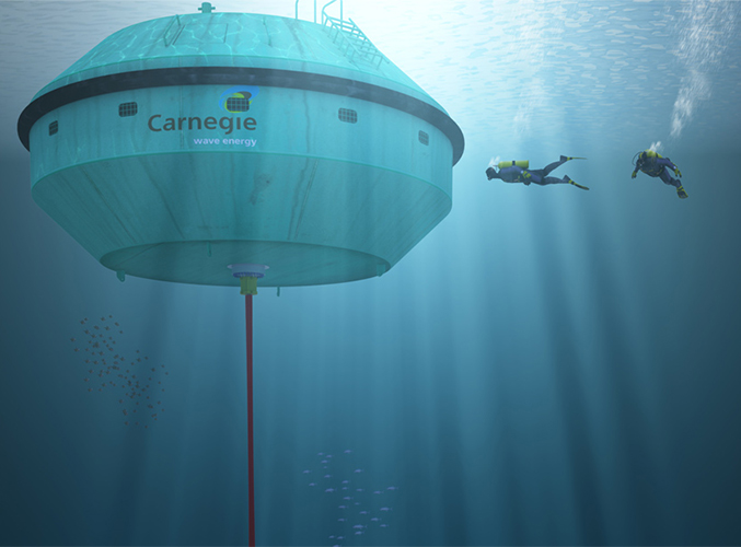A wave power generator telling the epic tale of adventure on the high seas Image