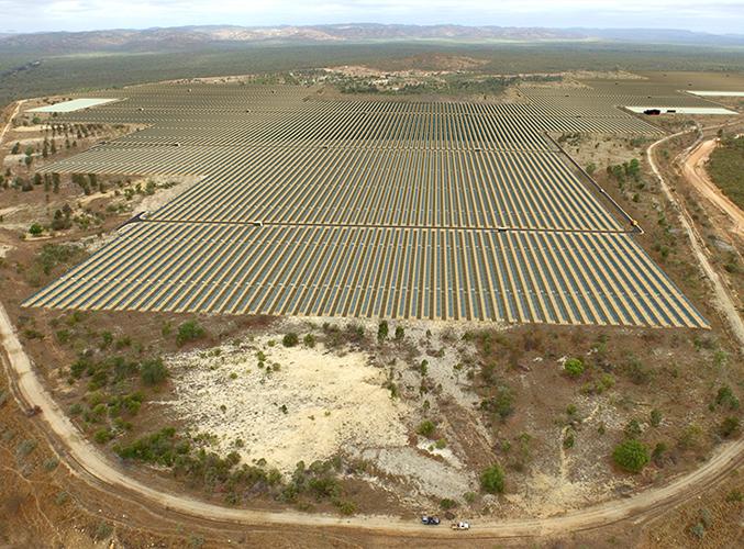Image - Arial view of Kidston Solar Farm