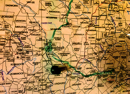 Map focused on Kidston