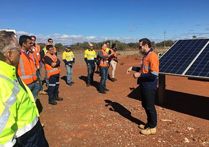 Juwi's Andrew Drager explains the finer points of developing the solar farm