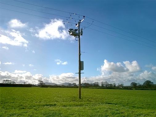 Image - NOJA smart switchgear technology installed on transmission line