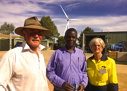 Workers at the Emu Downs Solar Farm
