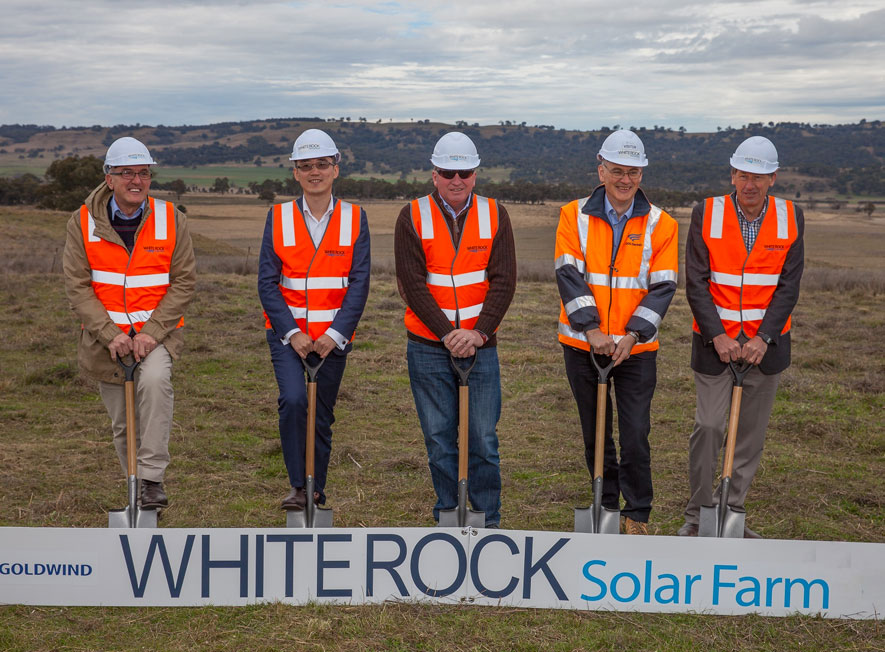Whiterock Solar Farm media photo with Acting PM Barnaby Joyce