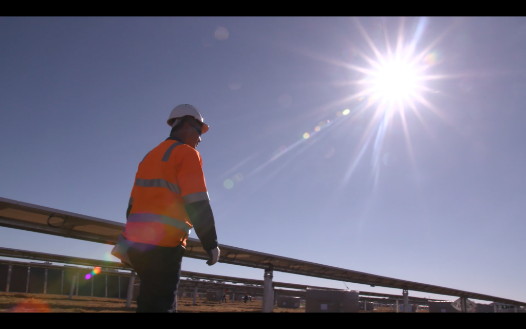 Sam Hawker working at the Parkes site
