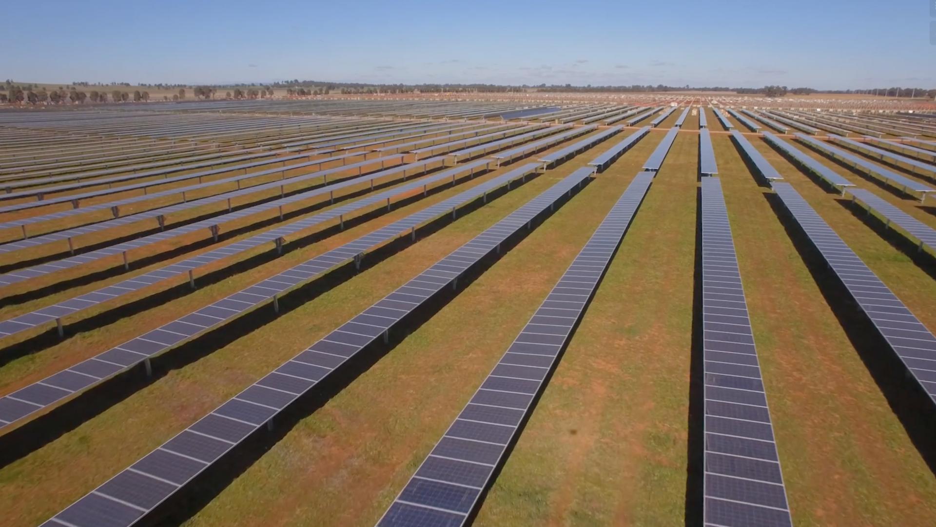 Parkes Solar Farm arial view