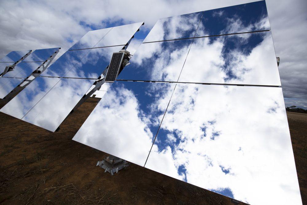 THE Heliostats track the sun at RayGen's solar farm