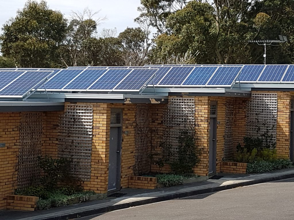 Solar on the roofs of accommodation units