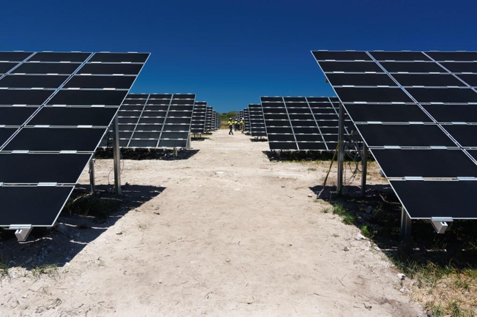 A new solar array at the Rottnest Island project