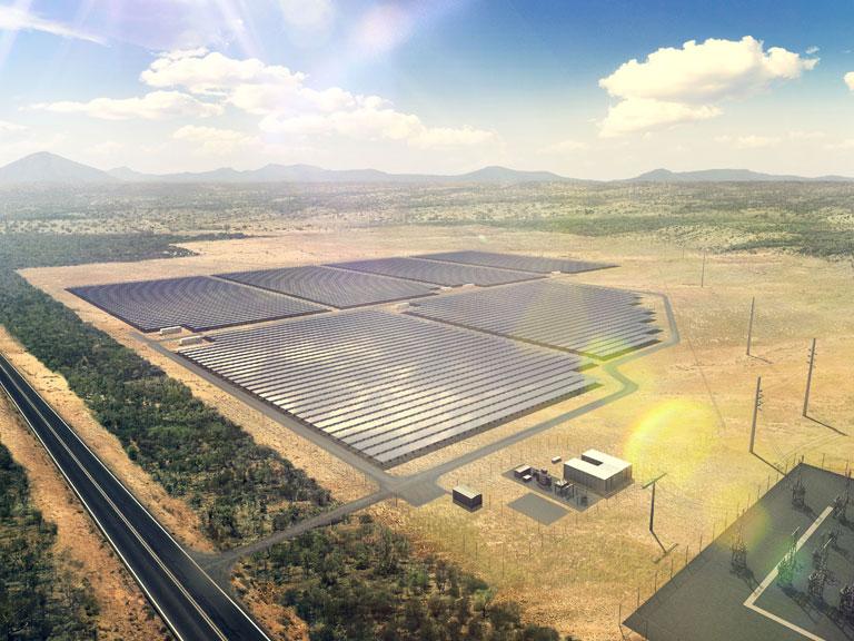 Lakeland solar farm arial view