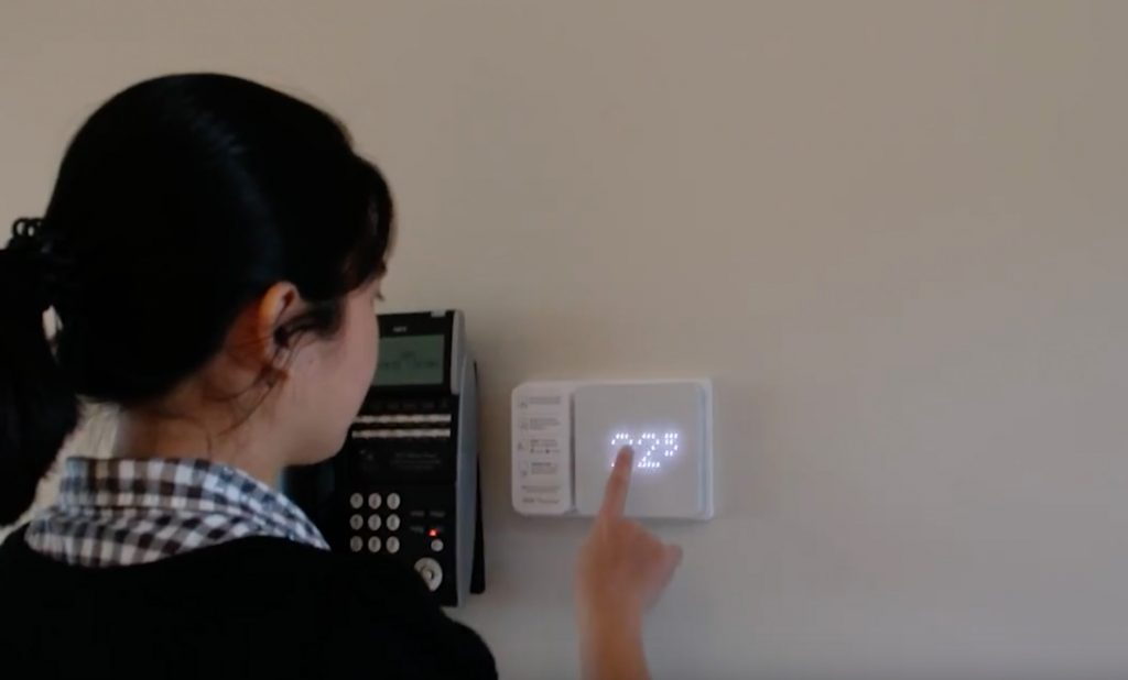 Girl interacting with digital unit