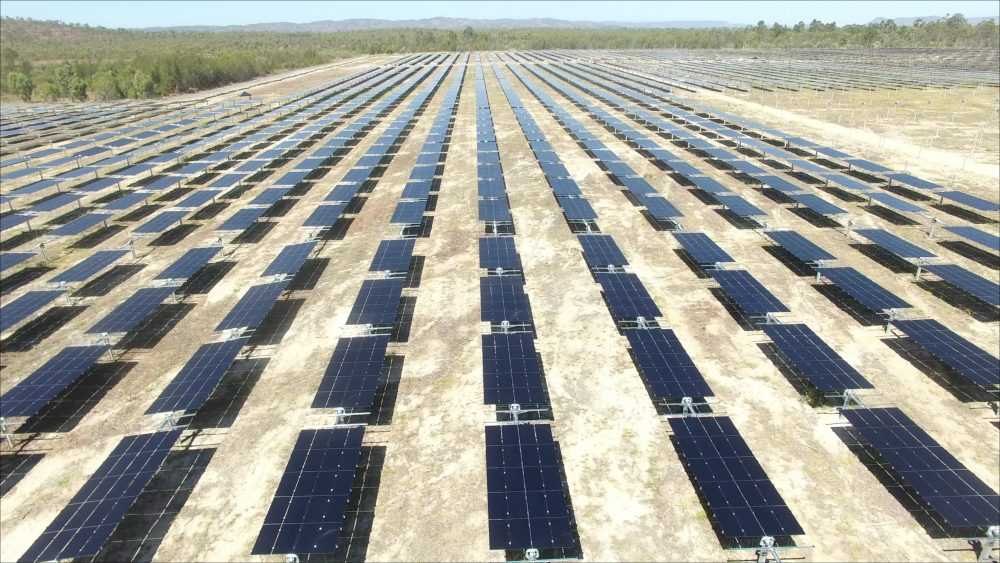 A 50 MW solar farm is being built on the old mine site