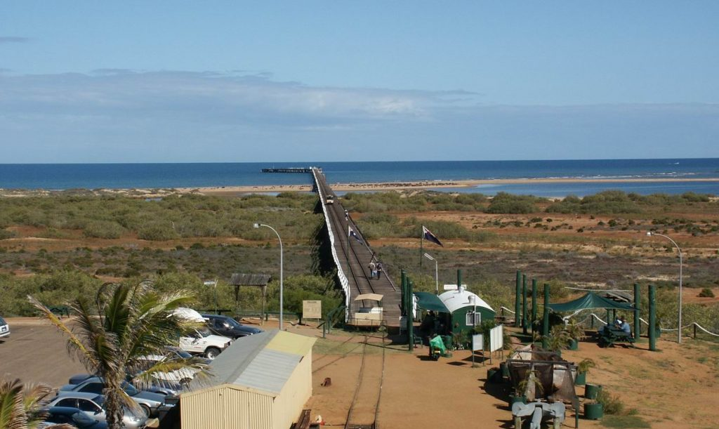 Arial view of Carnarvon