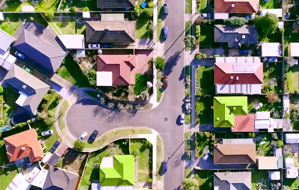 Image - Arial view of household street
