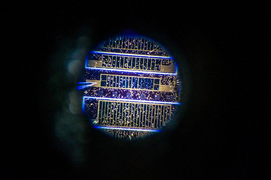 Solar cell closeup