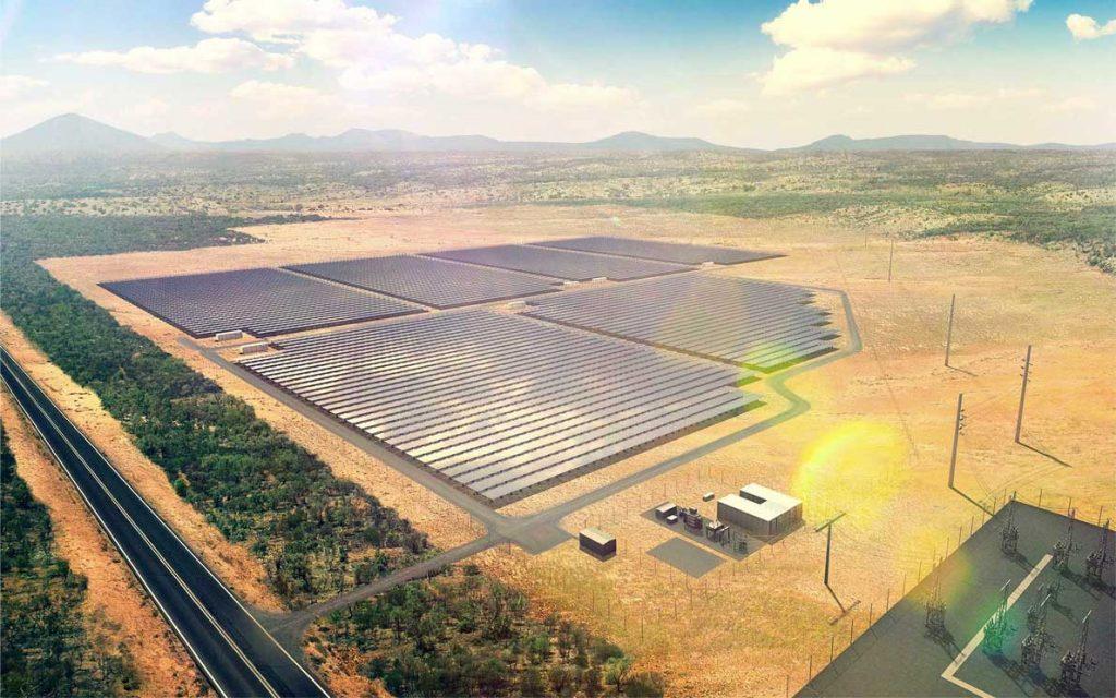 Barcaldine solar farm arial view