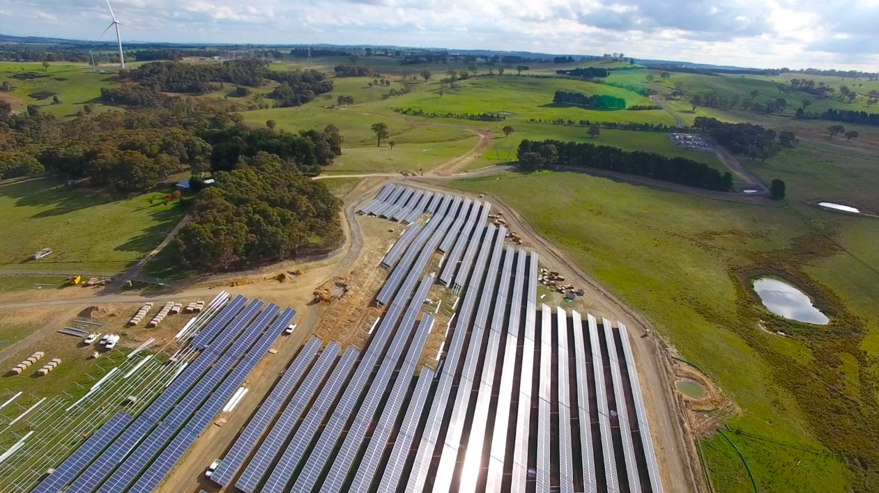 Australia's first hybrid wind and solar farm Image