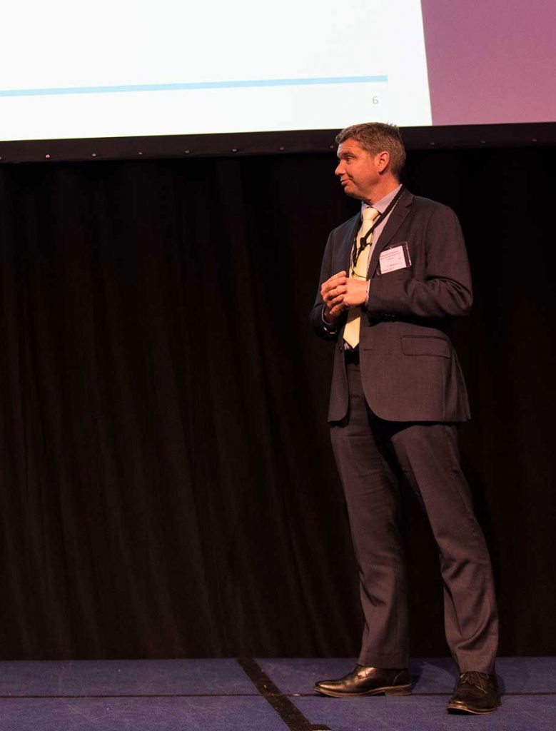 Mark Williamson giving presentation