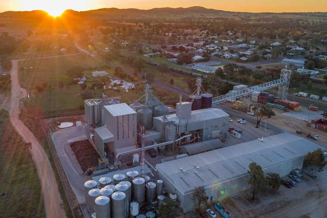 MSM Milling Manildra canola processing plants arial view