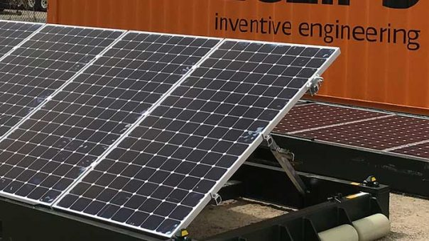 Redeployable solar system could replace diesel generators