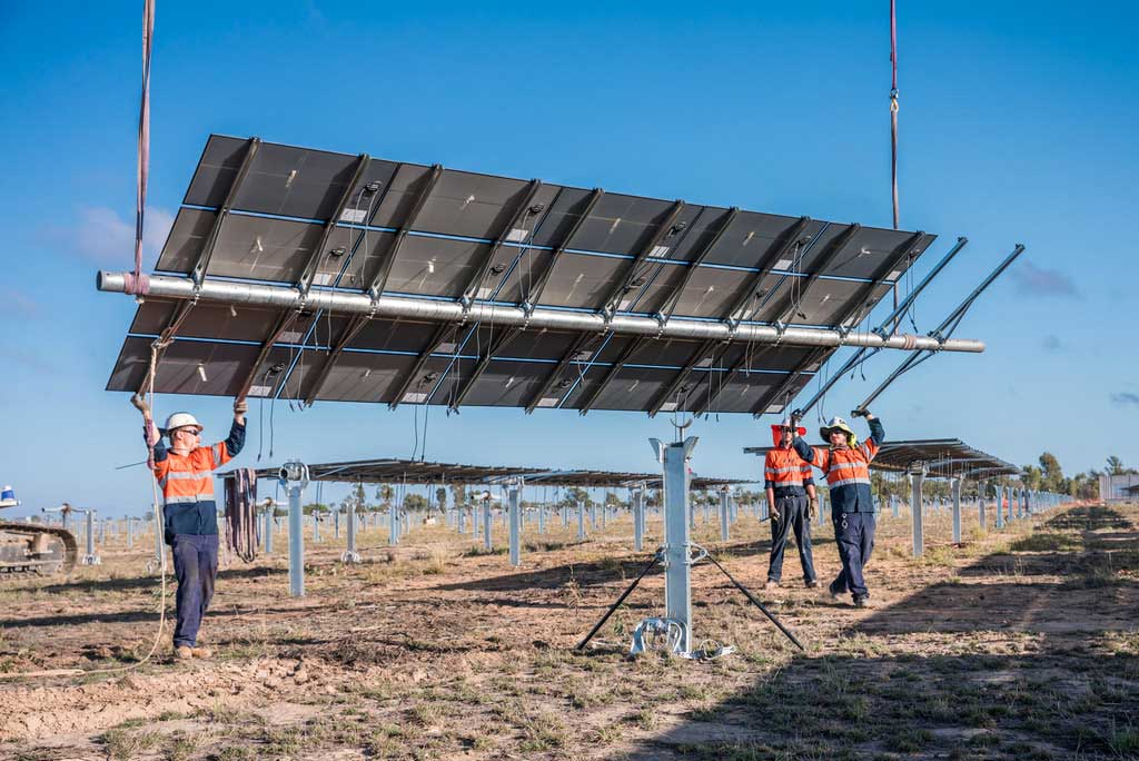 Image - Kidston Solar Farm panels being installed