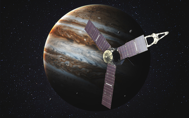 Juno spacecraft and Jupiter