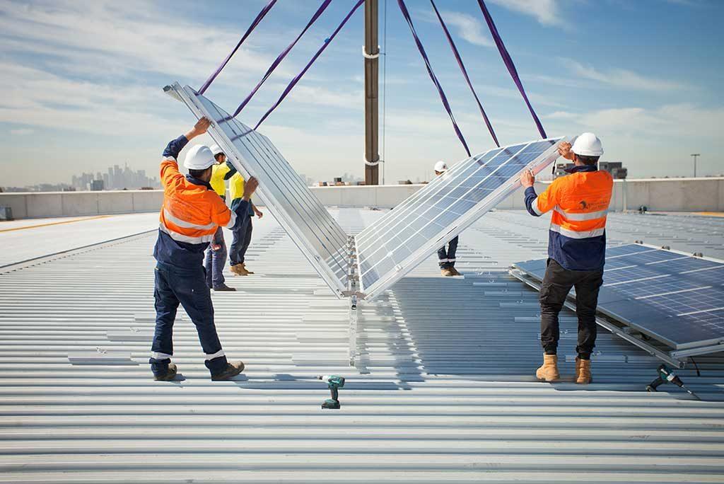 Solpod rooftop solar panels installation