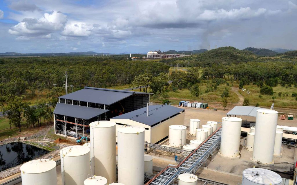 Bioenergy plant arial view