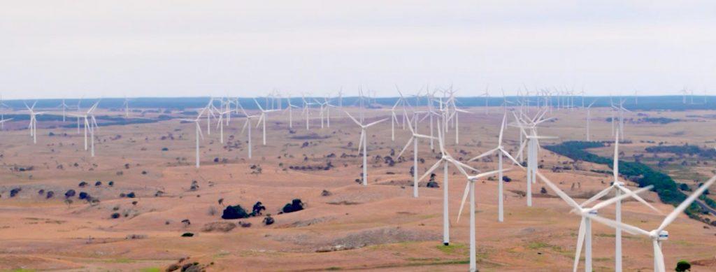 Lake Bonney Wind Farm arial view