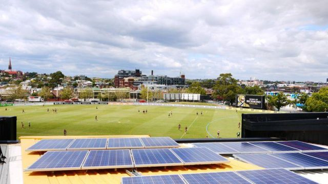 Punt Road oval arial view