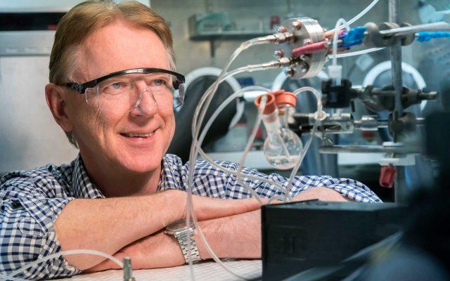 Professor Doug Macfarlane in Monash University's laboratory