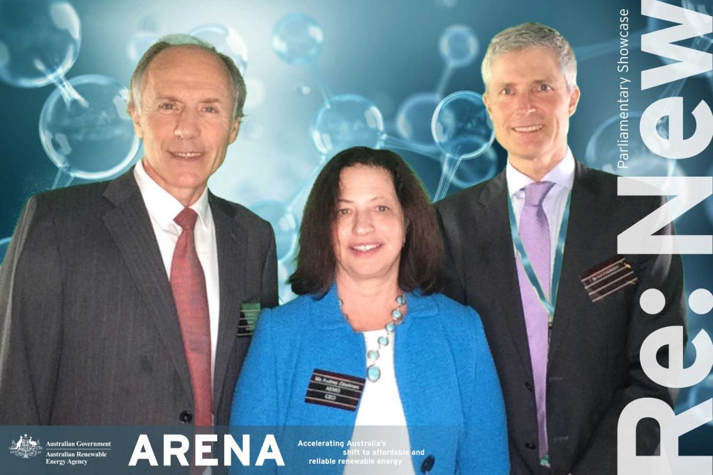 Chief Scientist Dr Alan Finkel, AEMO CEO Audrey Zibelman and former ARENA CEO Ivor Frischknecht