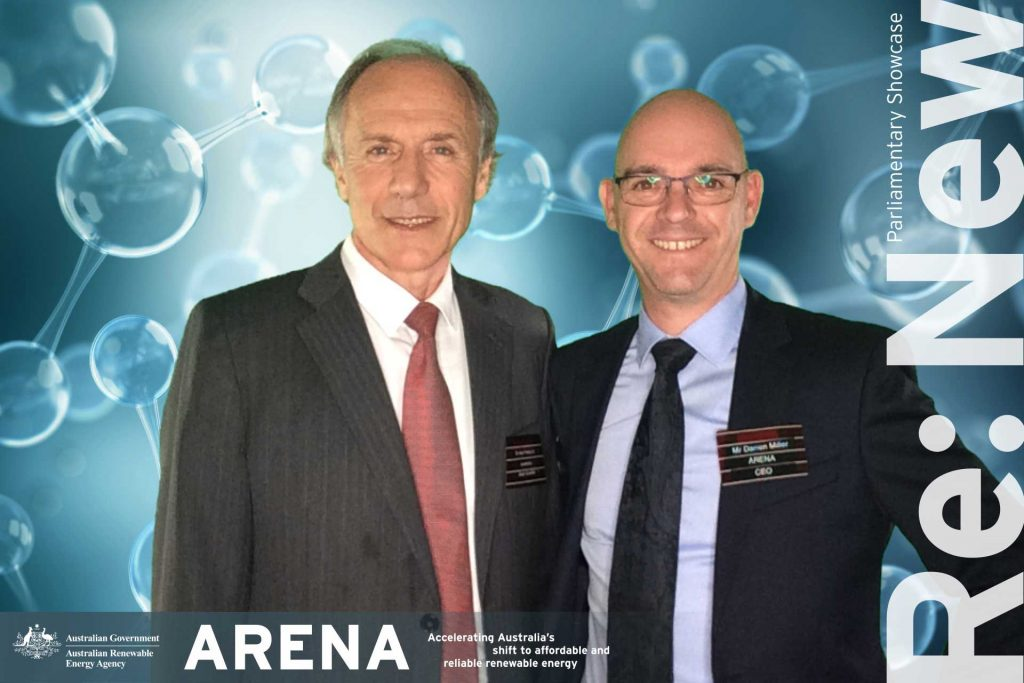 Chief Scientist Dr Alan Finkel with new ARENA CEO Darren Miller