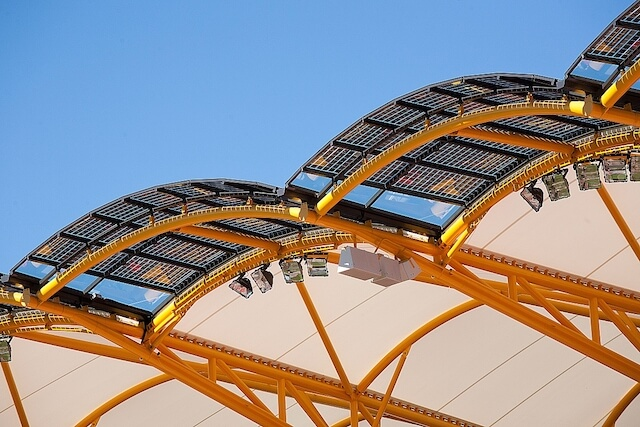 Metricon Stadium solar halo roof
