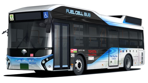 Toyota hydrogen fuel cell bus