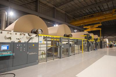 The B9 paper machine at Orora's Botany paper mill