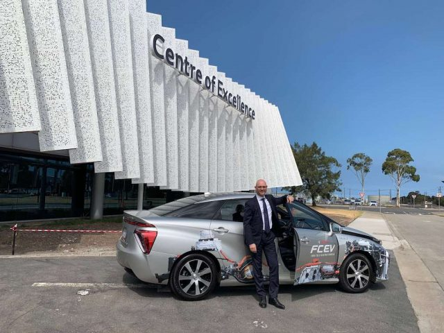 ARENA CEO Darren Miller outside Toyota's Altona Centre of Excellence