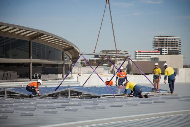 Solpod installation at Highpoint Shopping Centre