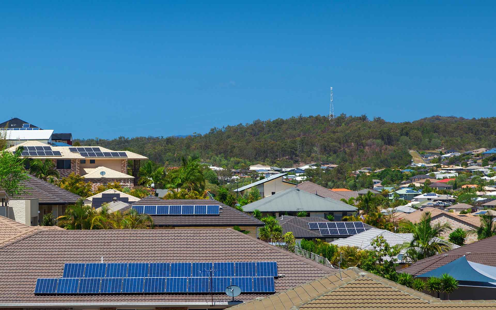 Image - Rooftops with solar panels