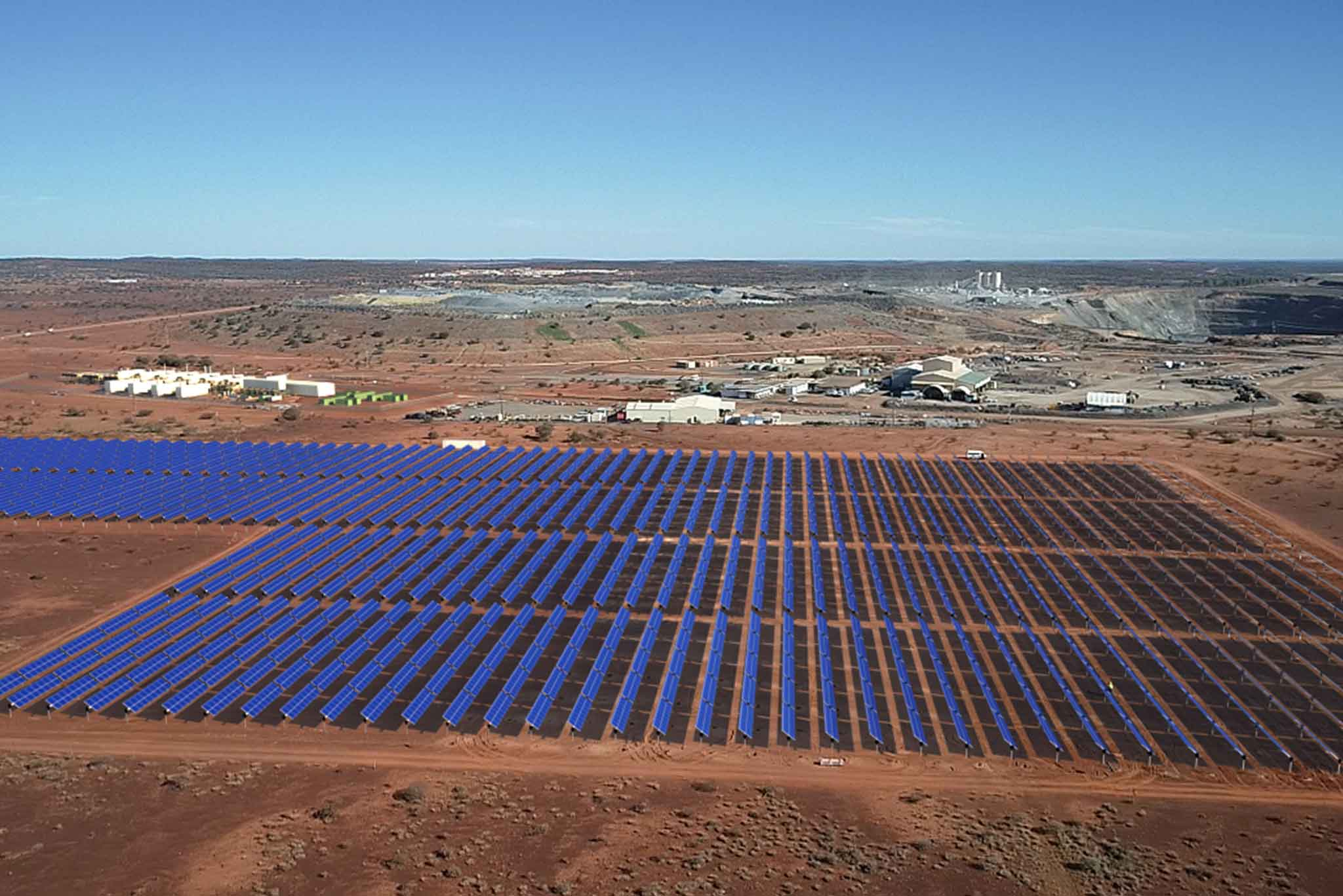 Image - Arial view of the Agnew Renewable Energy Microgrid