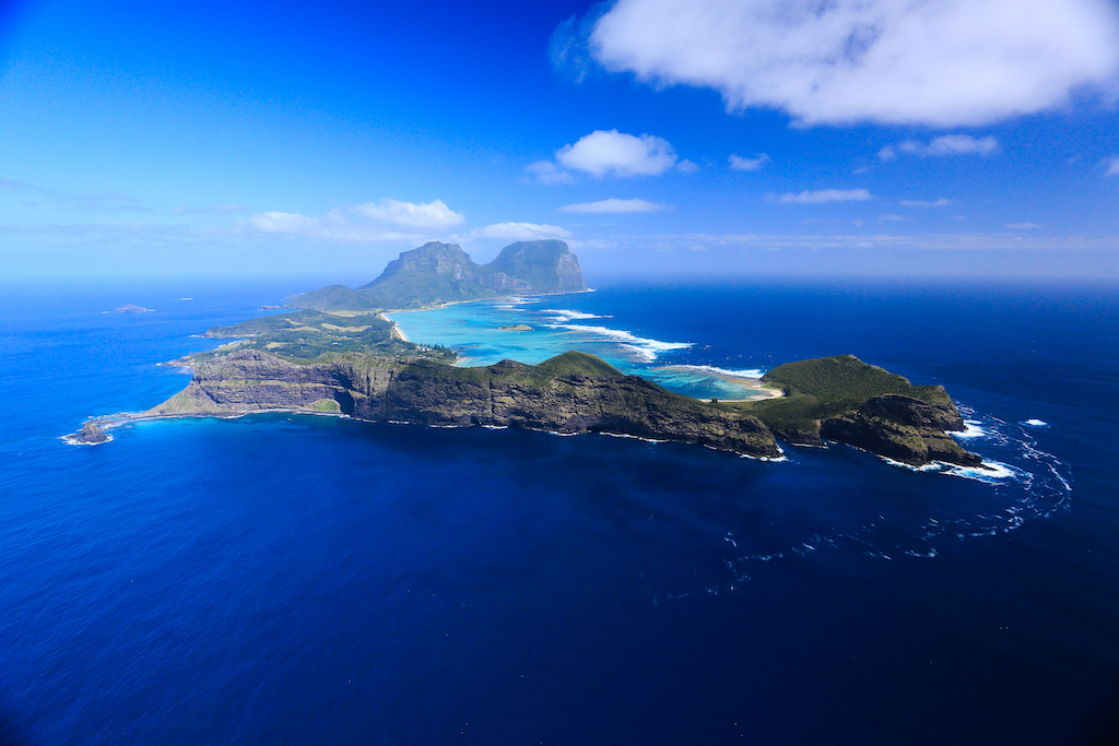 Lord Howe Island arial view