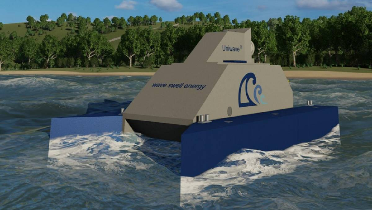 Image - King Island wave power project UniWave device
