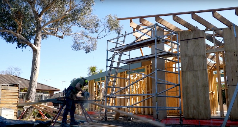 Construction of a smart, high tech home in the suburbs
