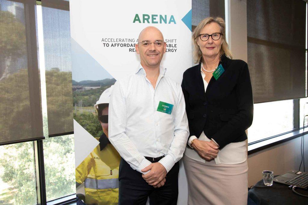 Kristina Haverkamp with ARENA CEO Darren Miller at the Insights forum