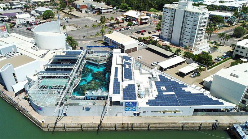 The existing solar system at the Reef HQ Great Barrier Reef Aquarium in Townsville