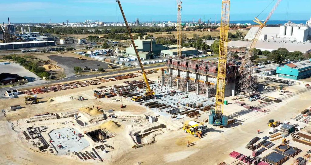 Waste-to-energy facility at Kwinana under construction