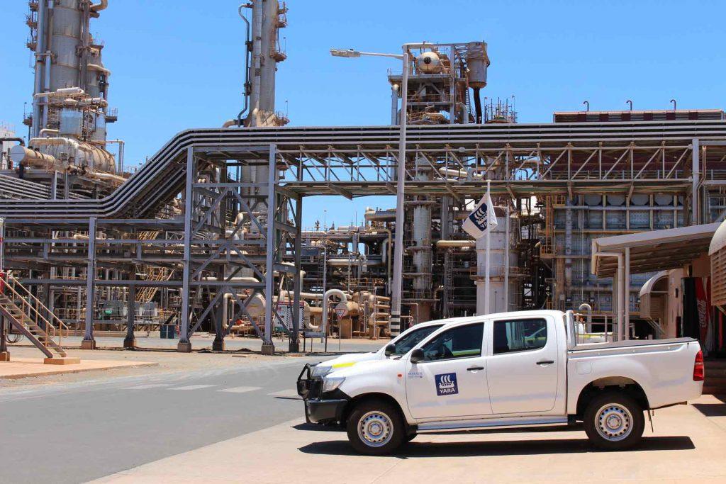 Yara Fertilisers plant in Western Australia's Pilbara region