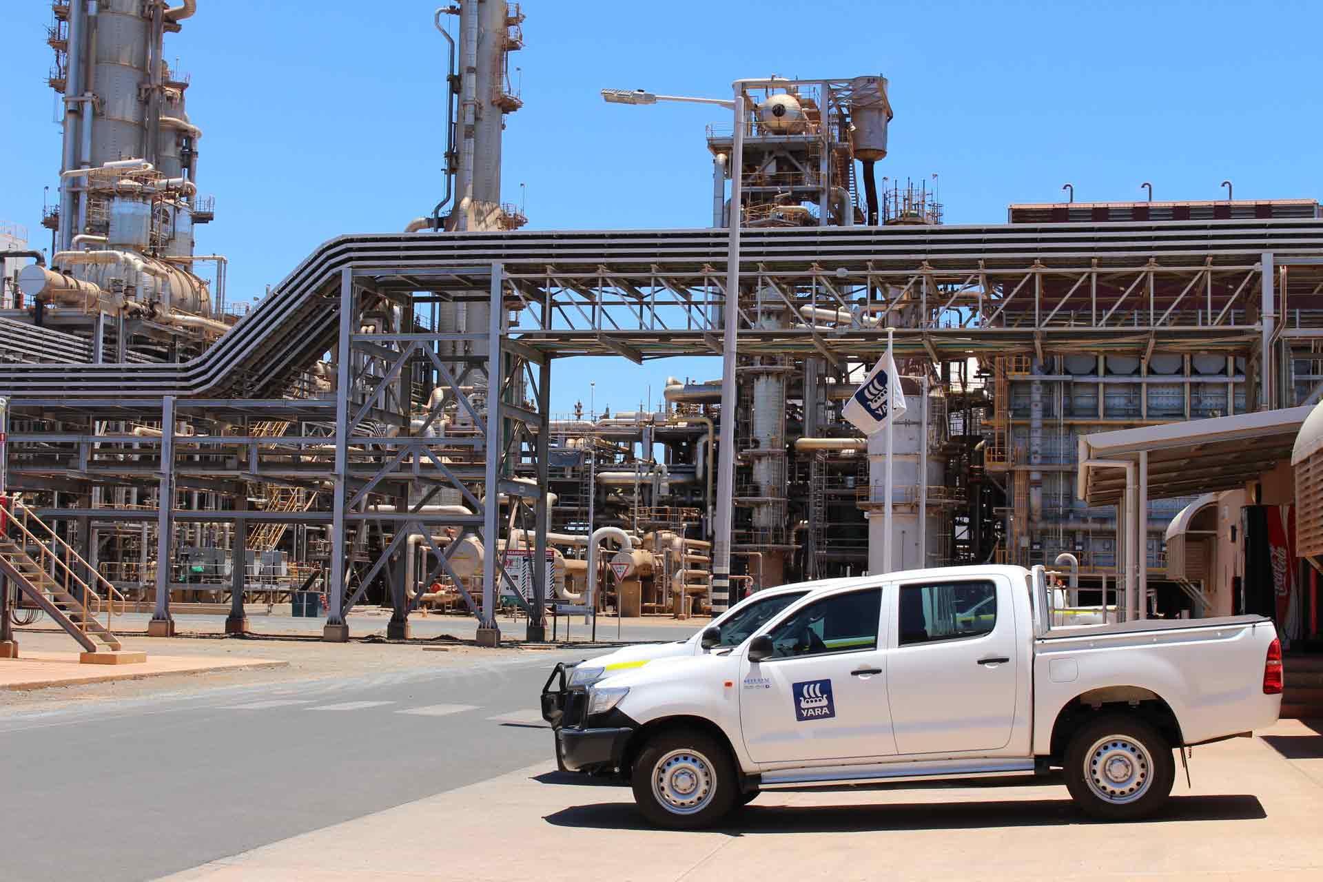 Image - Yara's ammonia plant in Western Australia's Pilbara region