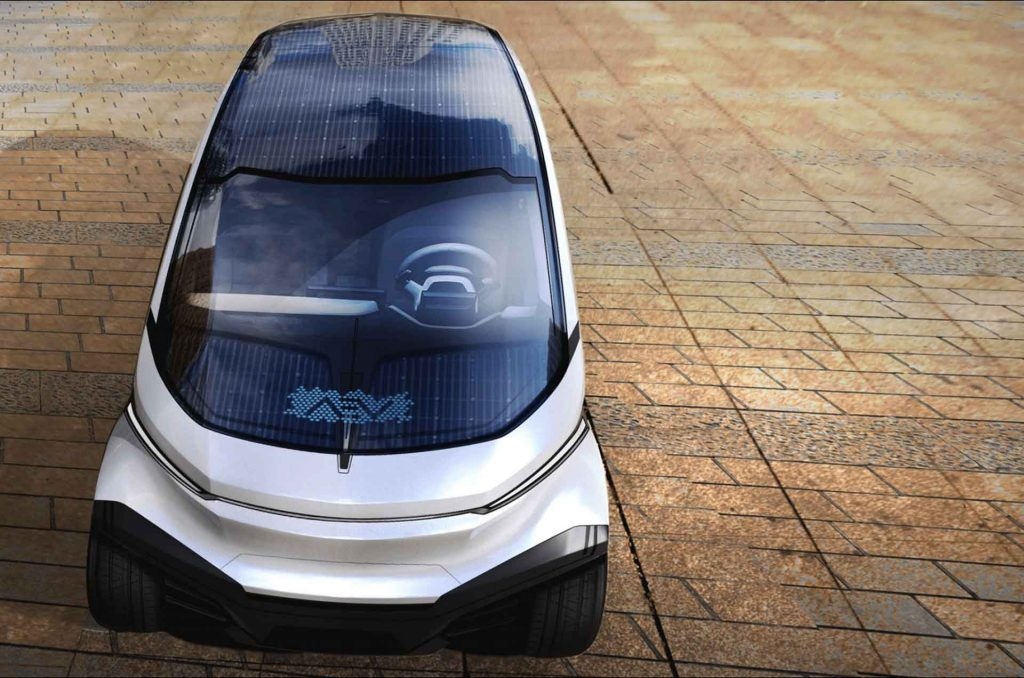 Freedom solar electric vehicle front view