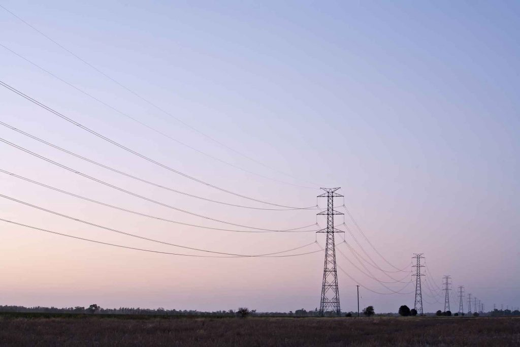 Transmission lines in the Queensland network