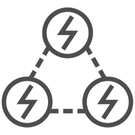 Distributed energy resources icon